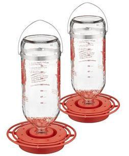 2 Pack of Best-1 Glass Hummingbird Feeders, 32 oz. each