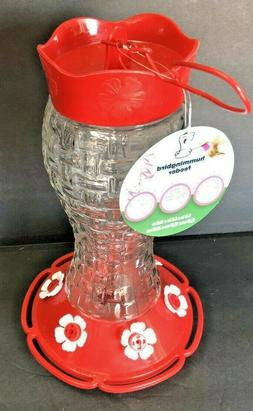 10 Oz Outdoor Hummingbird Feeder Made from Glass, Hanging