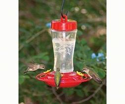 HOMESTEAD 12 oz. ETCHED GLASS HUMMINGBIRD FEEDER, FREE USA S