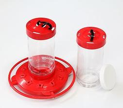 First Nature 16oz Red Plastic Hummingbird Feeder #3051 w/ Ex