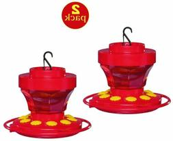 2-Pack First Nature 3091 Hummingbird Nectar Flower Feeder wi