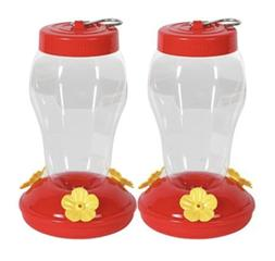 GARDEN COLLECTION 2 PACK RED HUMMINGBIRD FEEDER- FAST FREE S