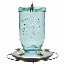 2 Perky Pet Glass Mason Jar 32 Ounce Hummingbird Nectar Feed