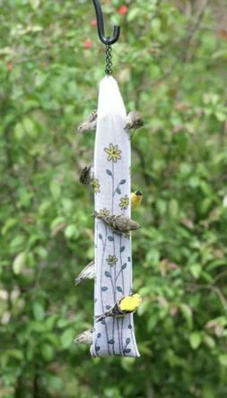 Homestead 22-inch Thistle Sak Finch Feeder, Yellow Floral -