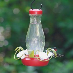 Perky-Pet Funnel-Fill 16 oz Glass Hummingbird Feeder