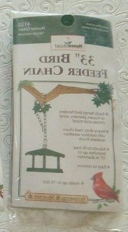 """Homestead  33"""" Bird Feeder Green Metal Chain- holds up to 16"""