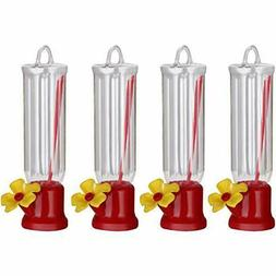 4 Pack Mini Hummingbird Feeder Wild Bird Feeding Station For