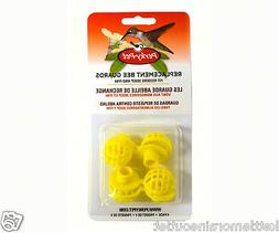 Perky Pet 4 Yellow Plastic Replacement Bee Guards for Hummin
