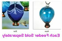 80 Days Balloon Hummingbird Feeders Parasol Glass 3 Colors 6
