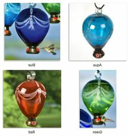 80 Days Balloon Hummingbird Feeders Parasol Glass 4 Colors 6