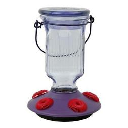Perky-Pet 9101-2 Lavender Field Top-Fill Glass Hummingbird F