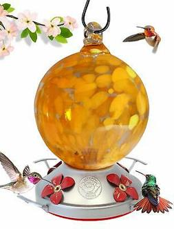 Grateful Gnome - Hummingbird Feeder - Hand Blown Glass - Ora
