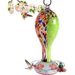 Grateful Gnome - Hummingbird Feeder - Hand Blown Glass - Wil