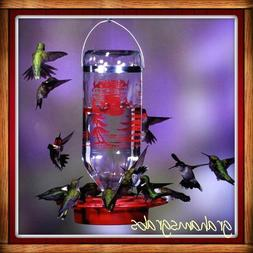BEST-1 Glass Bottle HUMMINGBIRD FEEDER  32 OZ BEE & WASP PRO