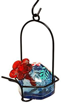 PARASOL Blue Botanica Lunch Pail Hummingbird Feeder, 3.5 oz.