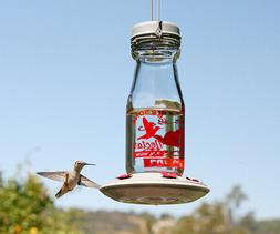 CLASSIC HUMMINGBIRD FEEDER - Gem HB Feeder - metal & glass C
