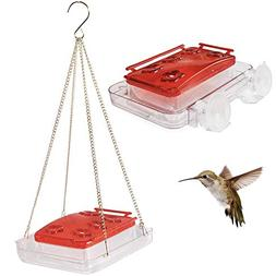 Sherwoodbase Cuboid - Hummingbird Feeder 2-in-1, Attached to