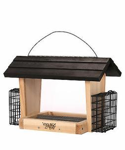 Natures Way CWF19 Cedar Hopper Feeder With Suet Cages