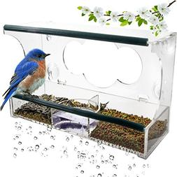Birdious Deluxe Window Bird Feeder with Strong Suction Cups