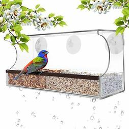 GrayBunny Deluxe Clear Window Bird Feeder