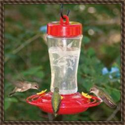etched hardened glass hummingbird feeder