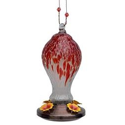 Friends of Flight Glass Finial Hummingbird Feeder