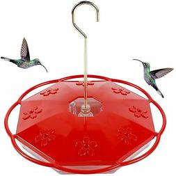 Juegoal 16 oz Hanging Hummingbird Feeder with 8 Feeding Port