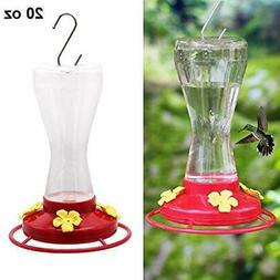 Hanging Hummingbird Feeder for Outdoors with 4 Feeding Ports