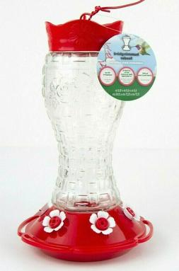 Heavy Duty Glass Hummingbird Feeder with 6 feeding ports, be