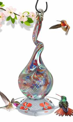Grateful Gnome-Hummingbird Feeder-Gnarly Glass Neck Gourd-16