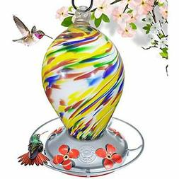 Grateful Gnome - Hummingbird Feeder - Hand Blown Glass - Bub