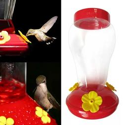 Hummingbird Feeder Nectar  Outdoor Yard Window Bird Plastic