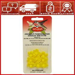Hummingbird Feeder Replacement Flowers 9 Piece Yellow Parts