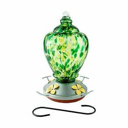 Best Home Products Hummingbird Feeder with Perch - Blown Gla