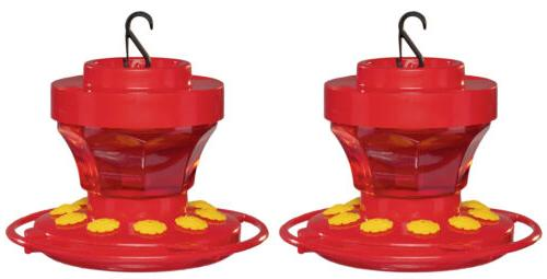2-Pack First Nature 3091 Hummingbird Feeder with Easy