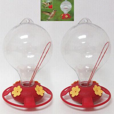 2 pack hummingbird nectar flower feeder 20