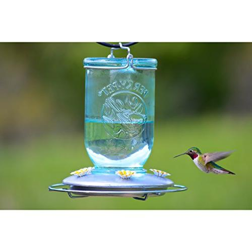 Perky-Pet Mason Jar Hummingbird Feeder