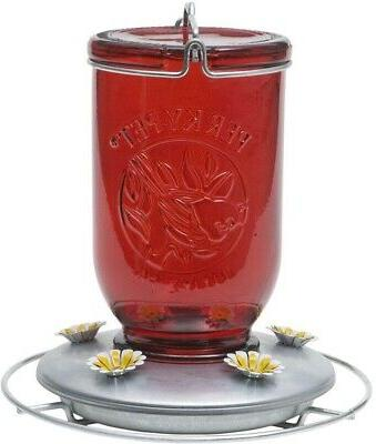 786 red mason jar glass