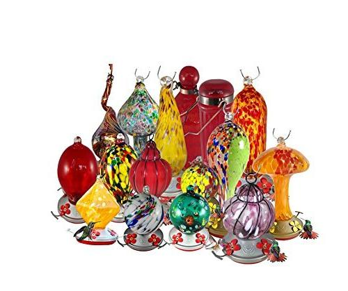 Grateful Feeder - Hand Blown Glass Flowers Flowers 24 Fluid Ounces