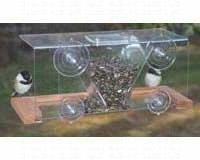 Songbird Essentials Clear Window Mounted Bird Feeder. 4 Cup