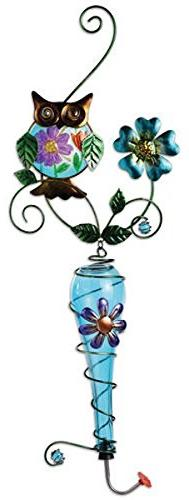 Sunset Vista Designs Colored Glass and Metal Hanging Humming