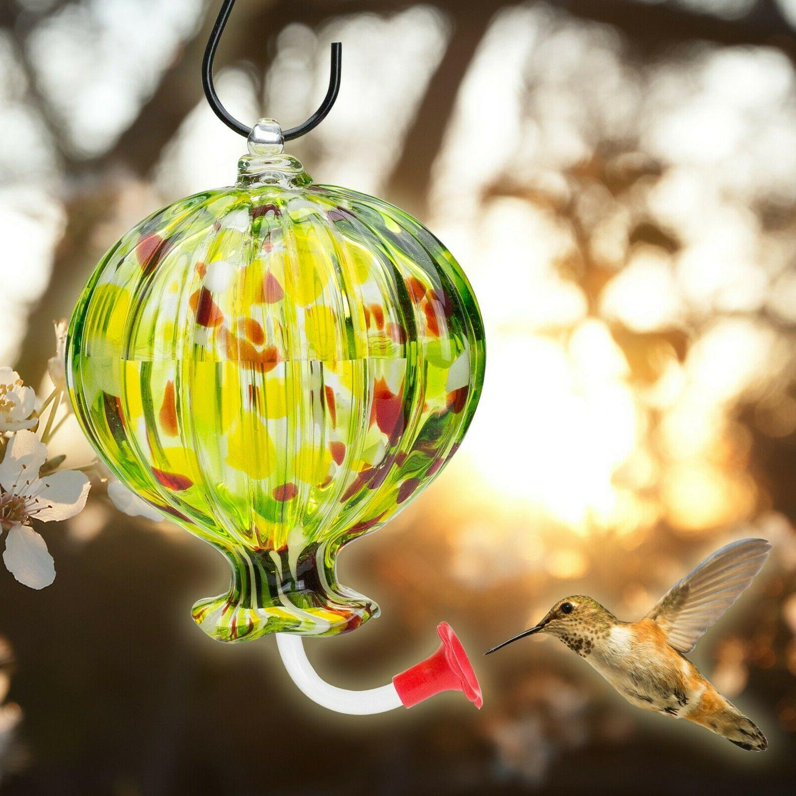 Hummingbird Feeder Summer 16 Glass Stopper Flower Red