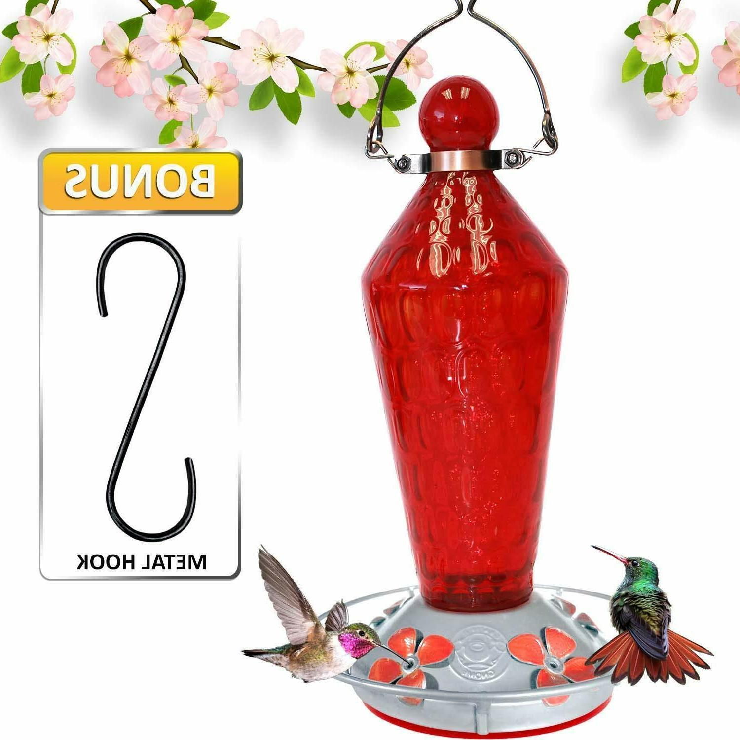 Grateful Feeder-Red Wand&Metal Clamp Hanger- 24 Ounces