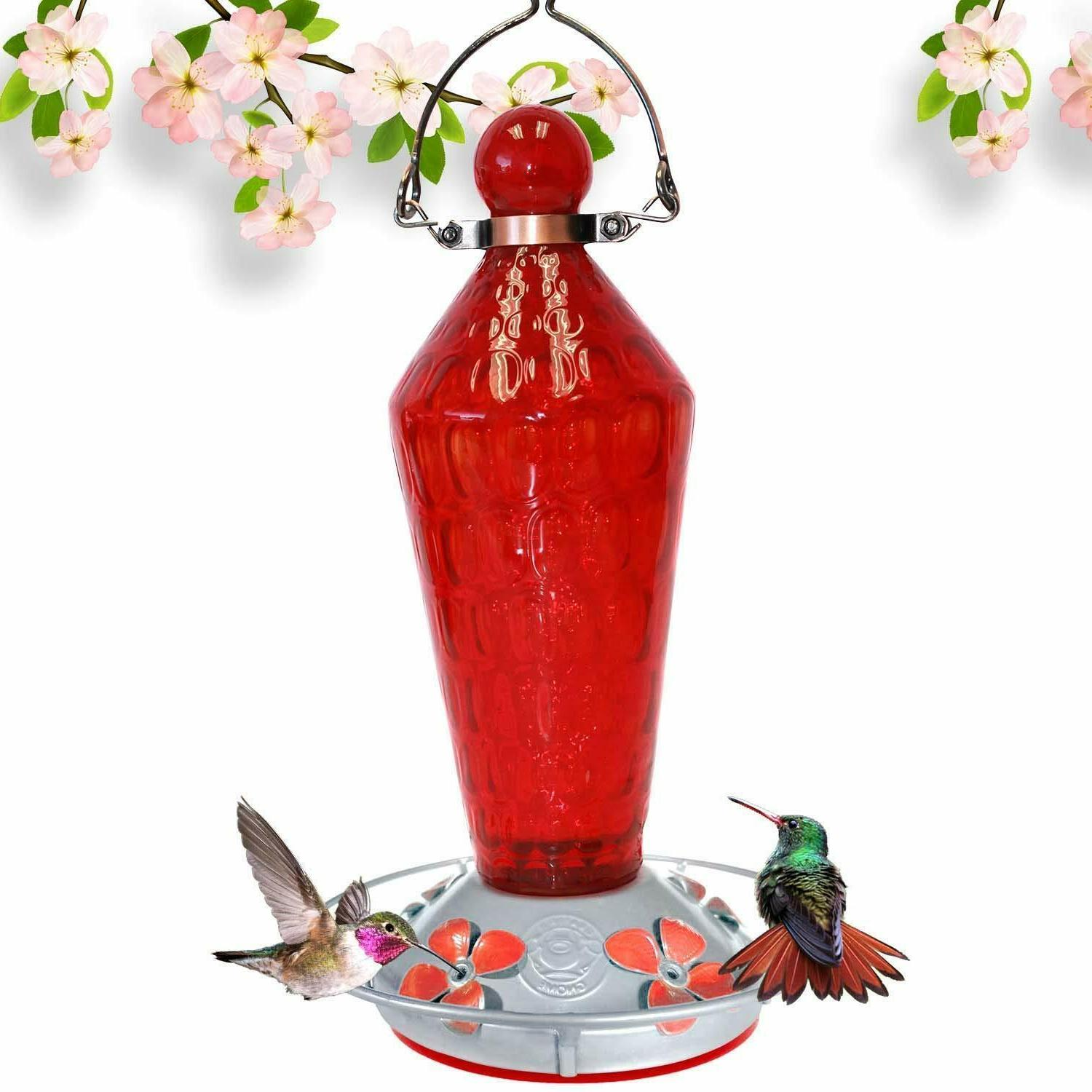 hummingbird feeder red wand and metal clamp