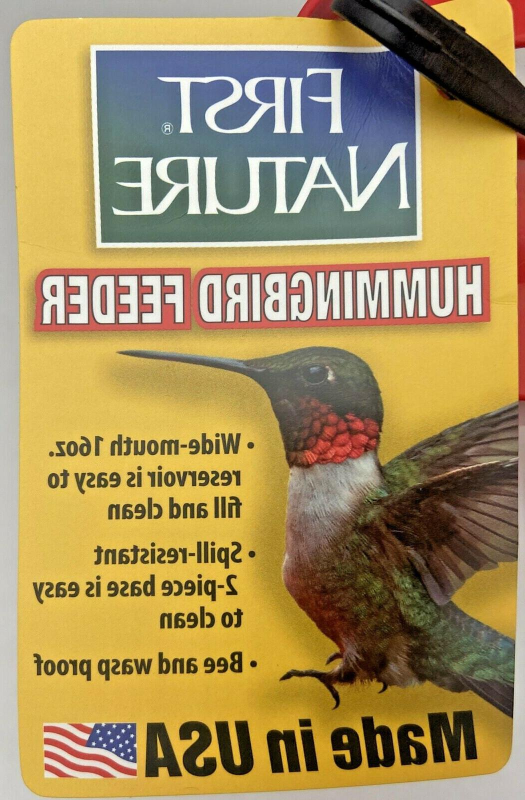 Hummingbird Feeder-First Clean-Bee Wasp Proof-NEW
