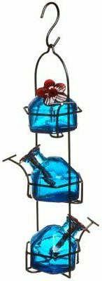 Lunchpail 3 Hummingbird Feeder Aqua