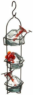 Lunchpail 3 Hummingbird Feeder Clear