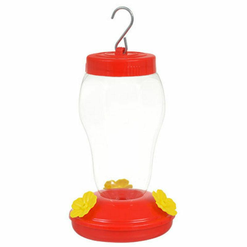 plastic hanging hummingbird feeder 6 75 inches