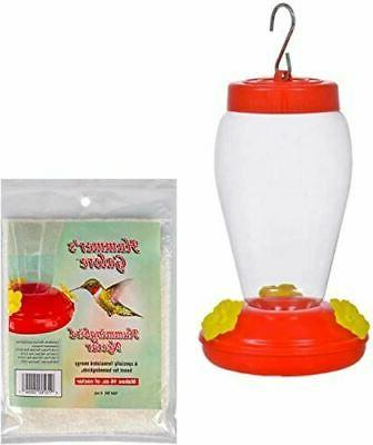plastic hanging hummingbird feeder set with necter