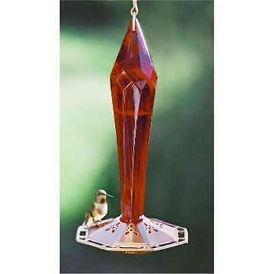ruby red faceted blown glass